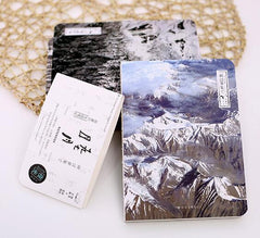 Creative mountain and forest theme notebook 13.2*18.3cm multiple functions sheets 164 pages school office supplies gift