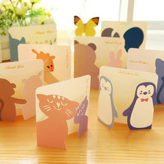Lovely 30pcs/lot Mini Paper Greeting Card Gift Birthday Thank You Card Cute Cartoon Kids School Office Supplies Message Memo