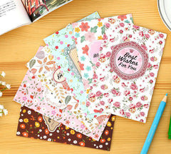 1Pcs Vintage Sweet Garden Floral Series Greeting Cards Set With Envelop DIY Deco Card Gift Office Supply Stationery H0551