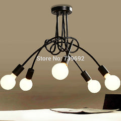 Hot Sale Modern Fashion Design of Kids Room Lamp Nordic Dome Light 3/5 heads Ceiling Lights for Home Decor black,white,red color