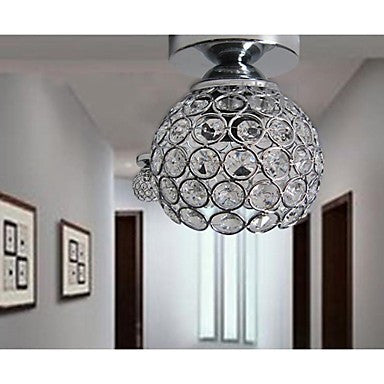 5w LED Wrought Iron Welding Spray Paint Absorb Dome Light Modern Ideas Painted K9 Crystal Ceiling Lamp Bedroom 1 Light