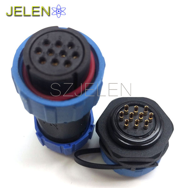 SP2110/S, waterproof connector 10 pin plug  socket, Electronic panels installed 10-pin connector, LED male and female connectors