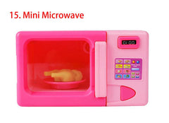 2017 Best Brand B0100-14 In Box Chilren Girl Child Toy Set Mini Appliances Sooktops Series Simulation Home Play Toy Mini Microwave 1pcs Free Shipping
