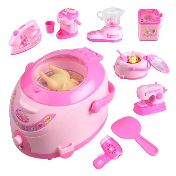 New B0100 Girls Toy Set Mini Appliances Sooktops Series Simulation Mini Home Play Toy 1 pcs Free Shipping