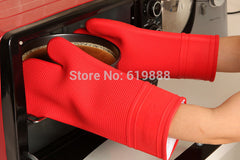 Thicken & Lengthen Silicone Oven Gloves Grill Churrasco BBQ Microwave  Mitt Pure Cotton Inside Cooking Tools N0405