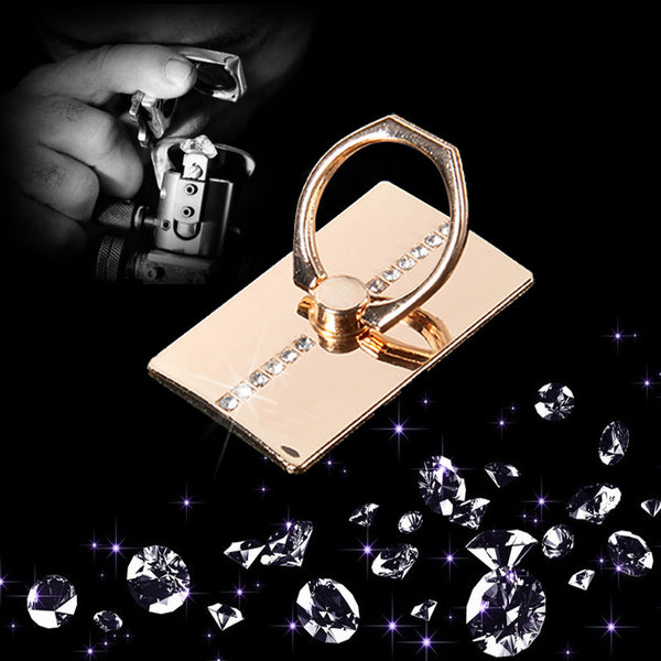 Luxury Bling Diamond Rhinestone Ring Holder, Alloy Finger Grip Ring Holder for Phones and Tablets, Car Holder Phone Accessories