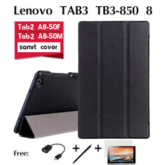 For Lenovo TAB3 TB3-850F holster case 8 inches tablet TB3-850M support shell package PU leather cover stand Tablet Magnetic case