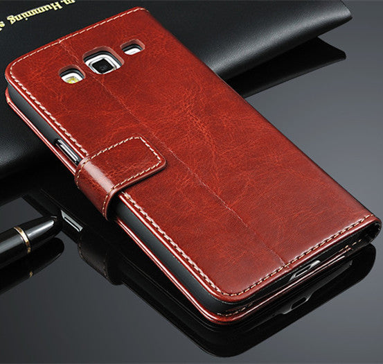 AZNS Grand2 capa fundas wallet Phone case  For Samsung Galaxy Grand 2 G710 G7106 PU Flip Cover With Card Holder & Money Slot