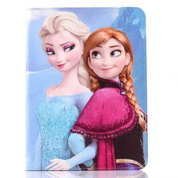 Lovely Cute Elsa Anna Cartoon Case for Samsung GALAXY Tab 4 10.1 T530 Fashion Tablet Sleeve PU Leather Cover for Samsung Tab 4