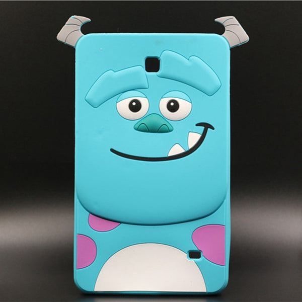 Tablet Case For SAMSUNG GALAXY TAB 4 7.0 T230 T231 T235 3D Cartoon Blue Sulley Case Soft Silicon Rubber Back Protective Cover