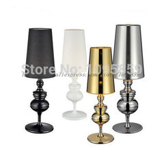 Free Shipping Modern Guards Metal Table Lamps Lights Black/White/Silver/Gold Bedroom Desk Lighting