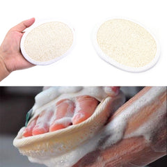 Natural Bristle Body Brush Loofah Effective Exfoliator Bath Brush Massage Shower Loofah Back Spa Bath Shower Sponge Round Scrub