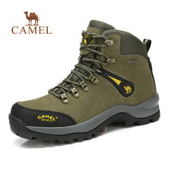 CAMEL Outdoor Sports High-Top Leather Hiking Shoes For Men Waterproof Antiskid Breathable Mountain Climbing Trekking Boots