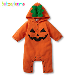 Cartoon Fleece Halloween Months/Autumn Winter Newborn Rompers for Kids & Baby Jumpsuits