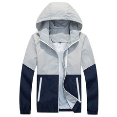 2016 New Stylish Veste Homme Men Causal Hooded Thin Windbreaker Zipper Outdoors Coats Outwear