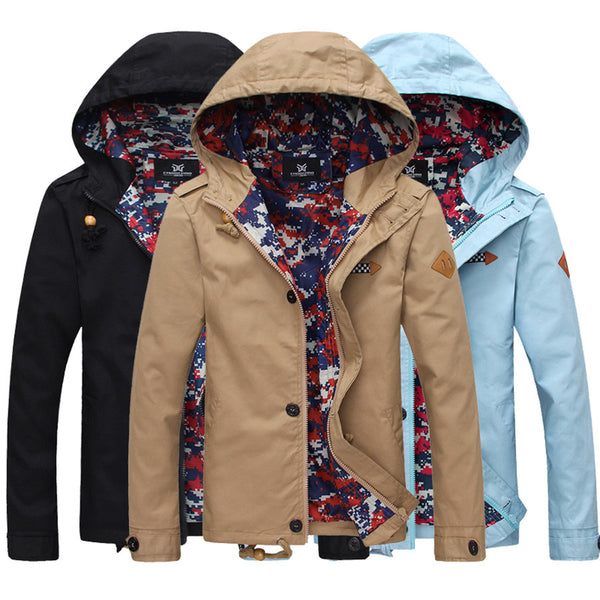 New Arrival Mens Jacket With Hood Fashion OuterwearSlim Fit Coat Casual for Spring & Autumn