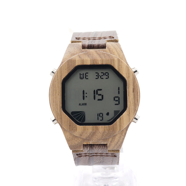2017 New Hot Sale BOBO BIRD Luxury Wood Digital Men Wristwatch with Genuine Leather Band Luxury Complete Calendar as Gifts