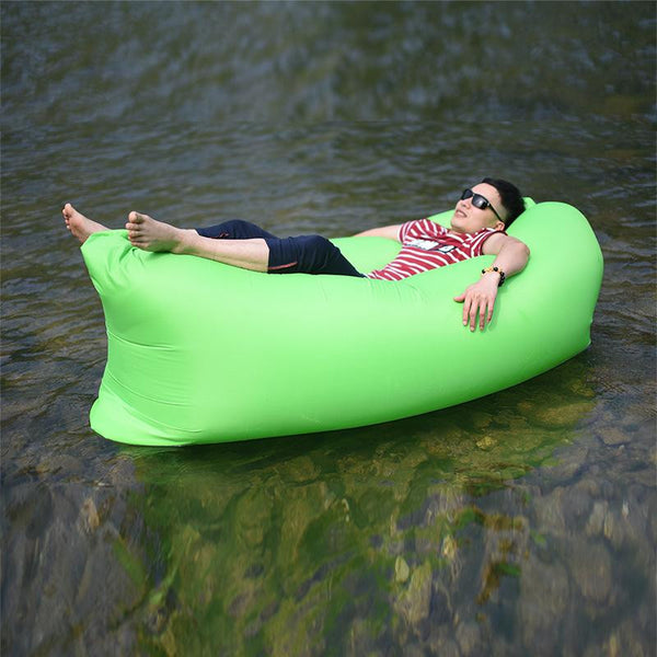 Floating bean bag on the water, relaxing inflatable air beanbag chair, also can used indoors