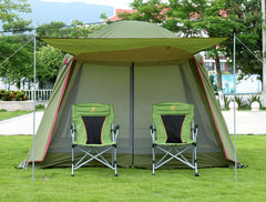 High quality double layer ultralarge 4-8person family party gardon beach camping tent gazebo sun shelter