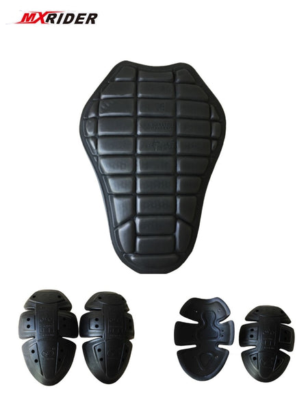 MXRIDER CE protector Motor Body Armor motorcycle jacket protective armor include 1 back pad 2 elbows 2 shoulder protection