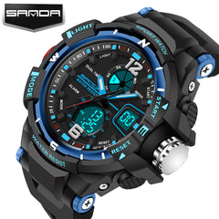 New Arrival SANDA LED Digital Sport Clock Famous Top Brand Luxury Electronic Digital Watch for Men