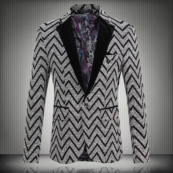 798f1e53d596 2016 New Spring Fashion Stripe Blazer Men Casual Suit Mens Blazers Sli |  ShaziShop.com