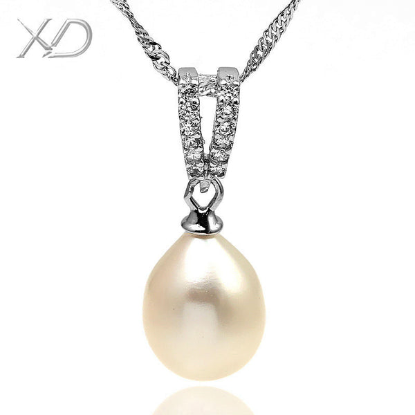 XD  925 sterling silver fine jewelry  fashion white&pink women's Freshwater Pearl wedding necklace bridal  pearl necklace  YE781