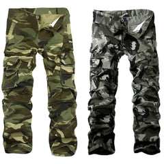 New Camouflage Casual Thickening Pocket Cargo Pants for Men - 2 Colors  HB88 Free Shipping