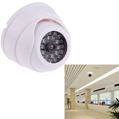 Outdoor Indoor ABS CCTV Fake Camera Dummy Surveillance Security Dome Camera w/ 30 Flashing LED Light Property Safety Equipment