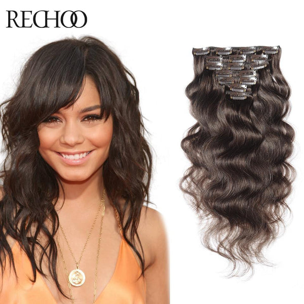 2017 New Arrival Brown Natural Human Hair Thick Clip In Virgin Best Human Clip In Remy Hair Extensions Hot Sale
