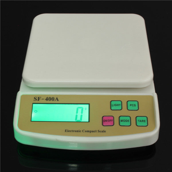 New Best Selling 1PCS SF-400A Digital Scale For Household Use 10kg/1g Amazing Electronic Kitchen Scale Weighing Scale With Backlight Free Shipping