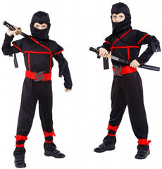 Classic Halloween Cosplay Martial Arts Ninja Costume for Kids Fancy Party Decorations Supplies Uniforms