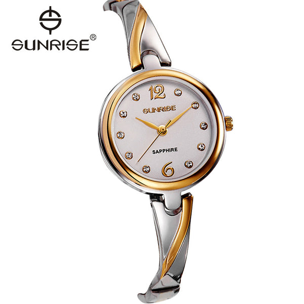 2017 Top Elegant Sunrise Famous Brand Women Bracelet Watch Relogio Reminino Fashion Luxury Slim Quartz Wristwatches