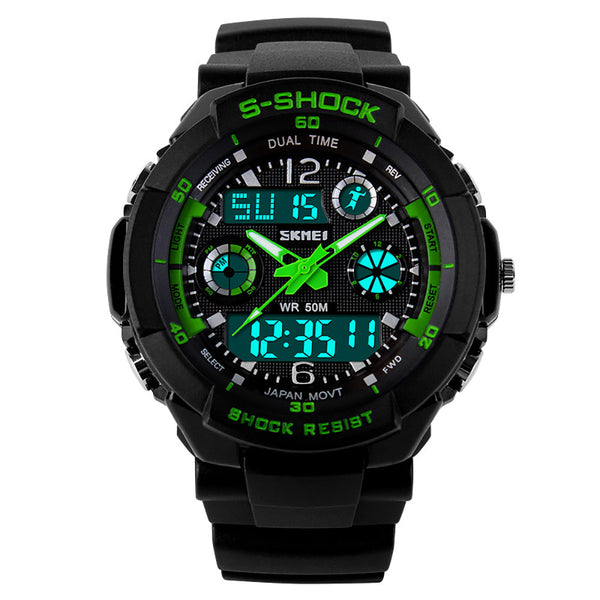 2017 Best Seller SKMEI S SHOCK LED Luxury Brand Waterproof Army Wristwatch Clock Datejust Military Clocks Rubber Strap Men Watches