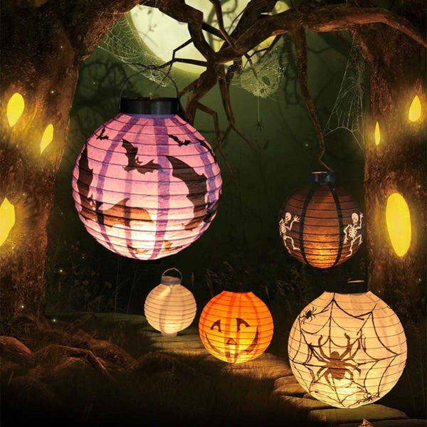 Halloween 2016 LED Paper Pumpkin Hanging Lantern DIY - Holiday Party Decor Scary