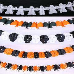 Halloween 2016 Supplies Hanging Paper Ghost Pumpkin Bat Skull Funny Door Hanger
