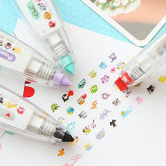 Cartoon Animals Press Type  Correction Tape Party Decor DIY Office School Supplies Diary Stationery Scrapbooking Tools Kids Gift