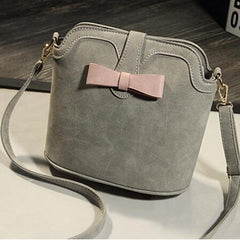 New Arrival Nubuck Leather Small Women Shoulder Bag Fashion Bucket Crossbody Bag For Women School Bag