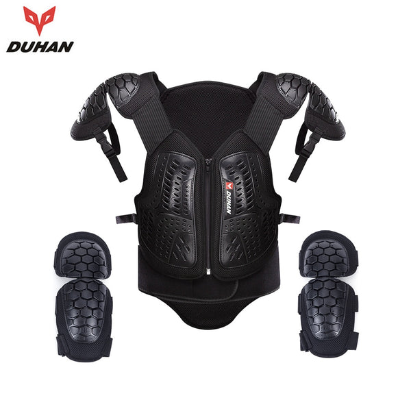 DUHAN Motocross MX Armor Off Road Racing Body Armour Motorcycle Protection Jacket Vest Chest Protective Gear Elbow Pads