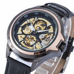 New Arrival WINNER Brand Glass Relojes Leisure Fashion Wristwatch Mechanical Watch for Mens