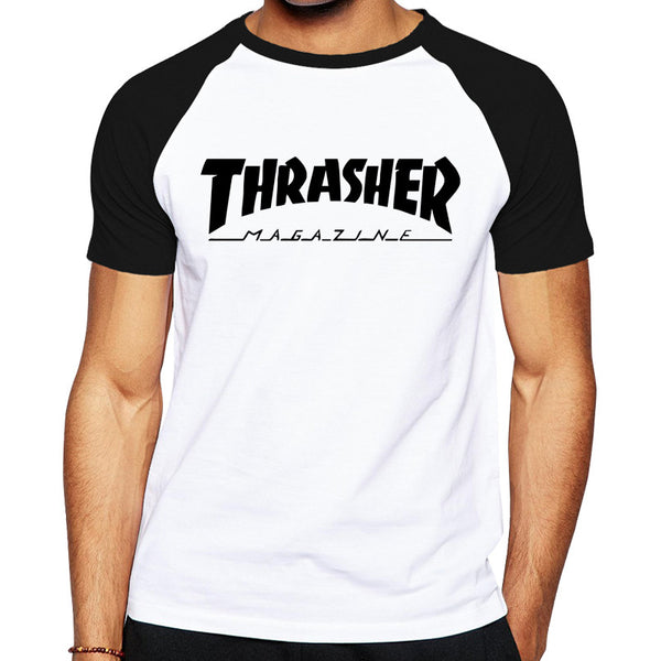 2016 Mens Cool Skateboards T Shirt Good Quality Cotton Hip Hop Trasher T Shirt Fashion Street Thrasher Tshirt hot  jerseys
