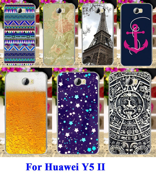 buy popular d21e1 b52e5 Eiffel Tower Painted Phone Case Cover For Huawei Y5 II Y5 2 5.0 inch Cases  covers For Y5 Cases Mobile Phone Case Shell