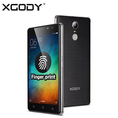 XGODY D20 5.5 inch Android 6.0 Smartphone Unlocked MTK6580 Quad Core 1GB RAM 8GB ROM Fingerprint 8.0MP Dual SIM Mobile Phone