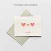 1pc Creative Hollow love word heart greeting card Wedding thanks birthday card paper Wedding Party supplies