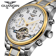 New Luxury Top Brand GUANQIN Mechanical Fashion Business Sapphire Sport Casual Wristwatch for Men
