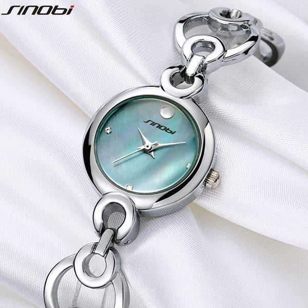 2017 New Arrival SINOBI Luxury Brand Dress Watches for Women Fine Steel Strap Ladies Bracelet Watches