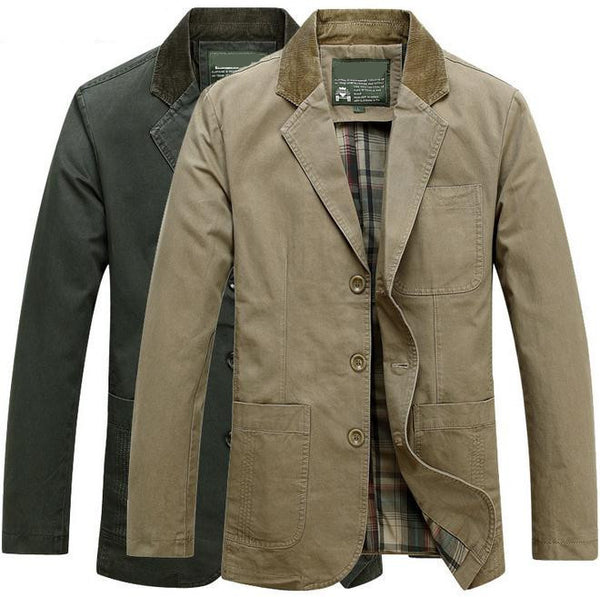 0356dd207570 2015 New Men's casual brand pure cotton jacket blazer man spring suit |  ShaziShop.com
