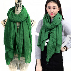180*110cm Solid Color Winter Scarf Women Hijab Green Shawls And Scarves Ladies Wraps Scarf Female