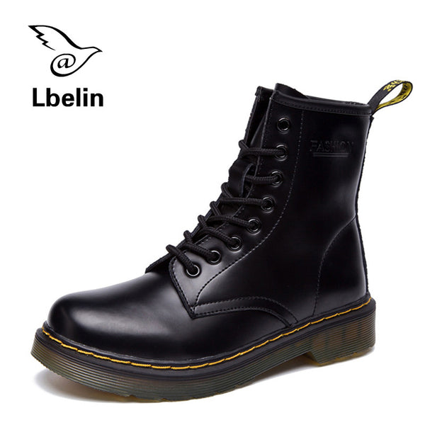 New Hot Sale British Dr Martins Vintage Classic Genuine Boots Thick Heel Motorcycle Shoes for Women's
