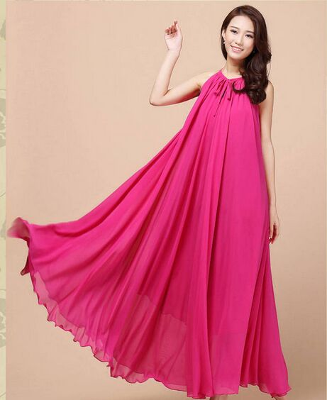 9e0ae575e9508 ... New summer Maternity Dresses long ChiffonBohemian Dress Clothes For Pregnant  Women Maternidade Pregnancy Feeding Clothing ...